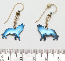 Howling Wolf Dangle Hook Earrings