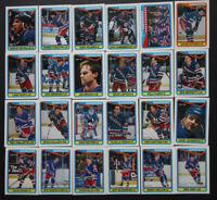1990-91 O-Pee-Chee New York Rangers Team Set of 24 Hockey Cards