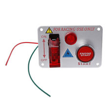 Racing Car 12V Ignition Switch Panel Engine Start Push Button Red LED Toggle New
