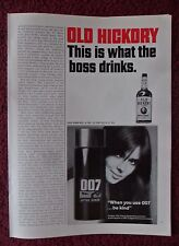 1967 Print Ad 007 After Shave ~ James Bond Pretty Girl Be Kind When You Use