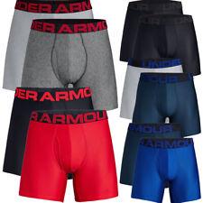 Under Armour Mens Tech 6 inch Boxerjock 2 Pack Boxer Shorts Pants Underwear