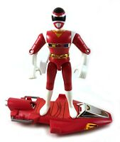Red Ranger & Galaxy Glider Vintage Bandai Power Rangers In Space Figure 1997 90s