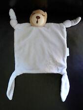 m14- DOUDOU PLAT KALOO OURS BLEU ENDORMI BRODERIE PERSONNAGE ENFANTS - TBE