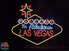 "Welcome to Las Vegas Nevada Beer Pub Bar Neon Sign 39""X33"" From USA"