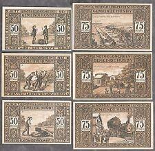 HUSBY -Gemeinde- Vollständige Serie, 6 Scheine (L 619)