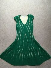 Forever Unique knee Eileen green knitted dress size 2 UK 6/8//must see
