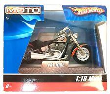 Hot Wheels Street Power Fat Ride Harley MIP 2009 H-D MIP 1:18 Motorcycle