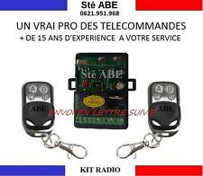 TELECOMMANDE DE PORTAIL KIT RADIO UNIVERSEL 433MHZ 12 24V 2 CANAUX