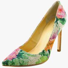 "IVANKA TRUMP "" Carra"" Flowery Linen 4.5"" Heels Pumps Size 7-M $135.00 NWOB"