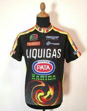 Vintage Colorful Marcello Bergamo Cycling Jersey L/XL Black Pata Kariba Liquigas