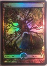 Forêt Full Art Zendikar VO PREMIUM / FOIL - Textless Forest - Magic mtg 249