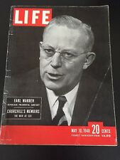 Vintage May 10, 1948 LIFE Back Issue Magazine - Earl Warren Churchill's Memoirs
