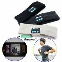 Neu Schlaf Sport Kopfhörer Drahtlos Bluetooth Laufen Stirnband Musik für Te I3U4