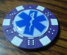 EMS Star of Life Medical Caduceus design Poker Chip Golf Ball Marker Card Guard