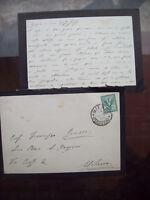 1903 35) LETTERA AUTOGRAFA FILOSOFO GEOLOGO E RELIGIOSO DI LECCO PIETRO STOPPANI