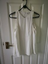 Whistles cream Back Pleated Top Sz 8 perfect condition