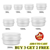 Aluminum Cosmetic Tin Containers Round Aluminum Makeup Cans BUY 3 GET 2 FREE