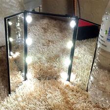8 LED Light Illuminated Make Up Cosmetic Tabletop Beauty Vanity Foldable Mirror