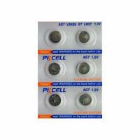 6 piles bouton alcaline Pkcell AG7, LR927, 195, 395, 395A, 399, SR927, LR57