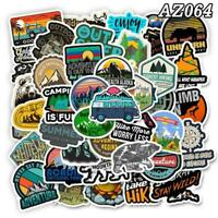 50 Stickers Pack Camping Travel Stickers Wilderness Adventure Landscape Sticker