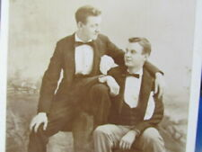 1890's young Ohio men sitting close together cabinet photograph