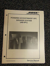 Bose Acoustimass 5PC AM-5PC Powered Speaker Sys Service Manual OEM ☆ EXC COND ☆