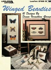 Winged Beauties 12 Counted Cross Stitch Patterns By Leisure Arts