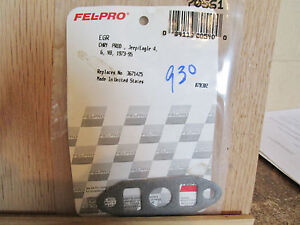 Fel-Pro 70561 EGR Valve Gasket Chrysler  Products  Jeep Eagle 4 6 V8 1973-95