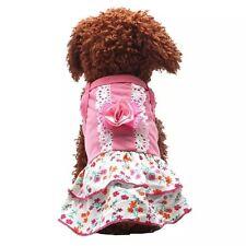 Vestido Vestido Blanco Rosa Cachorro Perro Taza pequeña 21CM Chihuahua Yorkie ropa XS