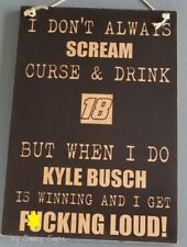 Naugty F*cking Loud Kyle Busch Winning Driver #18 Sign Cards Memorabilia Rare