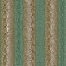 18090RC - Roberto Cavalli 7 Crocodile Textured Stripes Green Gold Wide Wallpaper