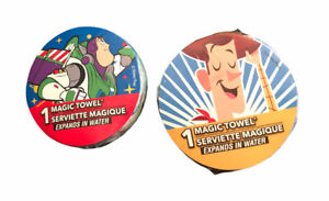 Peachtree DISNEY TOY STORY Buzz Lightyear & Woody Magic Towel Washcloth Set of 2