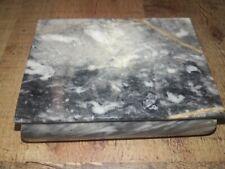 "Marble Natural Stone Trinket Box - 4.5""x 3.5# w/lid"