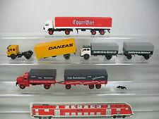 AJ421-0,5# 4x RMM etc H0 LKW: Mercedes MB Danzas+MAN Sandlerbräu+Egger Bier etc