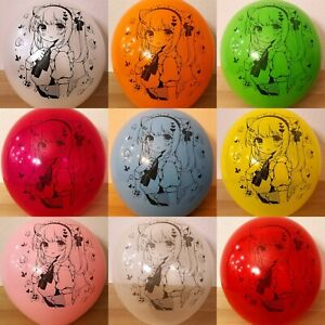 """NEW DESIGN!!! Cute Anime Girl Printed Balloons in Tuftex 17"""" / 24"""" Multi-color"""