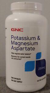 GNC Potassium & Magnesium Aspartate 250 MG - 240 Capsules Ex: 09/2024