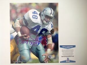 Daryl Moose Johnston Signed Autographed 8x10 Cowboys Photo Beckett BAS COA a