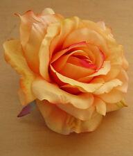 """5"""" Butterscotch,Yellow Silk Rose Flower Hair Clip, Wedding, Prom, Dance,Bridal"""
