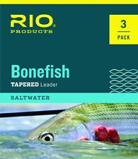 RIO 3-PACK BONEFISH 10' FOOT 12 LB SALTWATER NYLON FLY FISHING LEADERS FREE SHIP