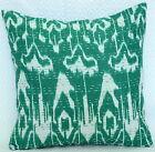 "Ethnic Handmade Kantha Cushion Cover 40Cm Ikat Print Pillow Case Decor Art 16"""