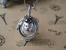 Vampire Diaries Elena Vervain Silver Red Crystal Charm Pendant Necklace Gift
