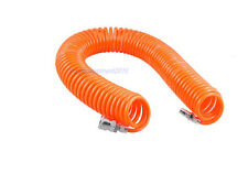 6M 8mmx5mm Air Compressor spring pu pipe recoil hose + quick connector