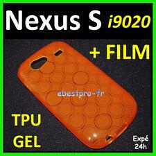 Accessoire Housse Coque Gel TPU Orange Samsung Nexus S I9020 +Film