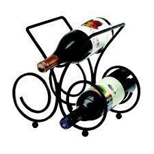 Bordeaux 3 Bottle Wine Rack - Black
