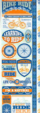 Reminisce BIKING COMBO Cardstock Stickers scrapbooking RIDE WHEELS