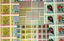 MALUKU SELATAN 950 stamps...1955 FLOWERS SET 19 COMPLETE SHEETS