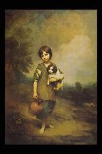 402066 un chalet fille avec chien et pitcher Thomas Gainsborough A4 papier photo