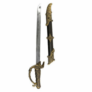 Schwert Piratin Charlotte mit Scheide, 52cm Piratenschwert
