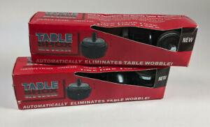 8X Table Shox 1/4-20 NC Self Adjusting Glides Eliminate Wobble Levelers Feet