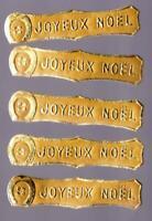 5 BELLES ÉTIQUETTES ANCIENNES JOYEUX NOEL A COLLER SUR CARTES POSTALES ANCIENNES